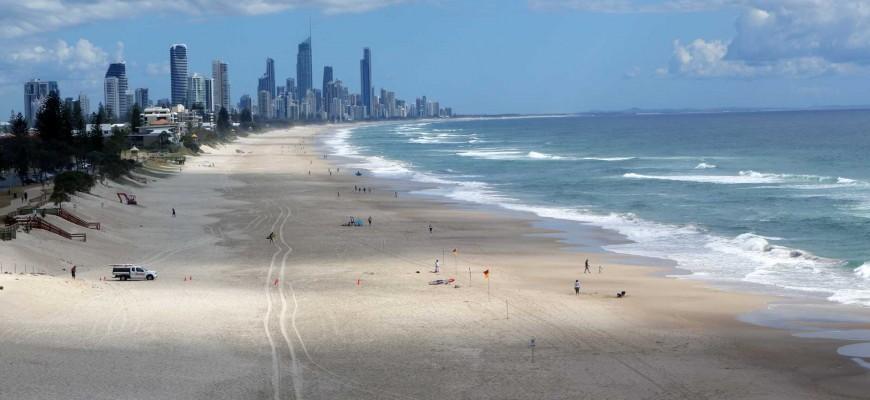 La plage de Gold Coast - Australie